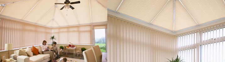 Examples of conservatory blinds