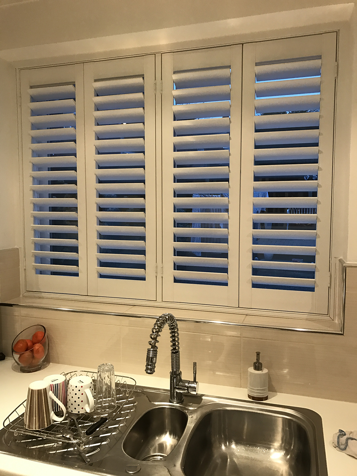 kitchen wooden blinds windows for